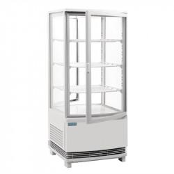 Vitrine réfrigérée 86 Litres, 2 portes incurvées blanc - ABS POLAR Vitrines réfrigérées à poser