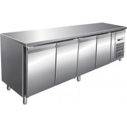 Desserte 513 litres réfrigérée, 4 portes pleines GN 1/1, sur roulettes L2G Tables et soubassements
