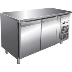 Desserte 260 litres réfrigérée, 2 portes 400 x 333 mm, sur roulettes L2G Tables et soubassements