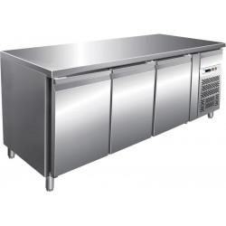 Desserte 255 litres réfrigérée, 3 portes pleines GN 1/1, sur roulettes L2G Tables et soubassements