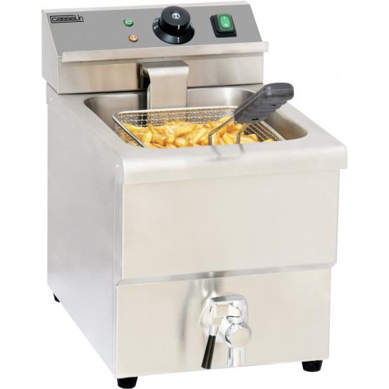 Friteuse électrique avec vanne de vidange 8 litres CASSELIN Friteuses à poser