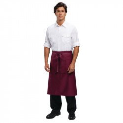 Tablier bistro 70x100cm (longueur) bordeaux UNIFORM WORKS Tabliers