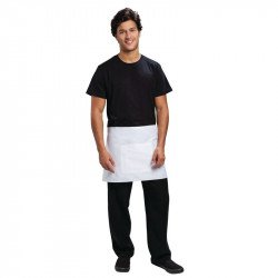 Tablier bistro court - blanc UNIFORM WORKS Tabliers