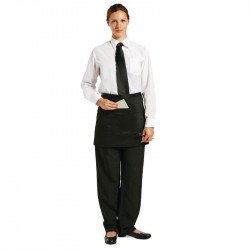 Tablier bistro court - noir UNIFORM WORKS Tabliers
