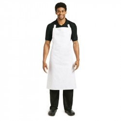 Tablier bavette coton blanc avec oeillet extra-long WHITES CHEFS APPAREL Tabliers