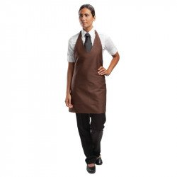 "Tablier ""Smoking"" Unisexe Marron Chocolat Col V UNIFORM WORKS Tabliers"