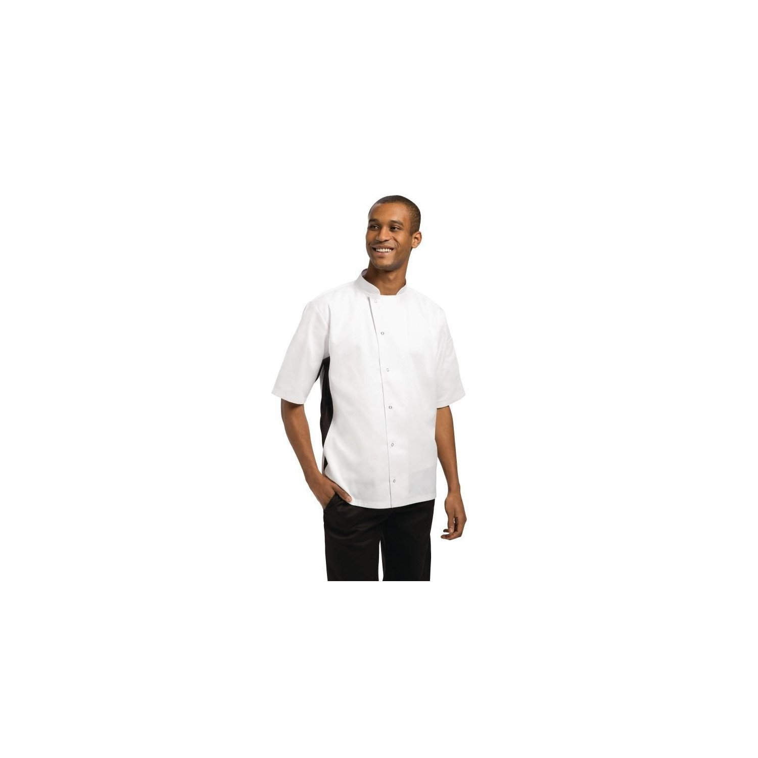 Nevada Chefs Jacket White with Black Contrast - Size M WHITES CHEFS APPAREL Nisbets Vêtements