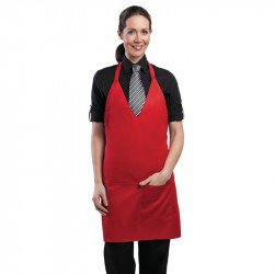 Tablier smoking unisexe Chef Works rouge. UNIFORM WORKS Tabliers