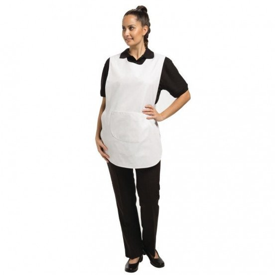 Tablier chasuble avec poche Blanc - Taille S WHITES CHEFS APPAREL Tabliers