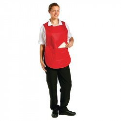 Tablier chasuble avec poche Rouge - Taille S WHITES CHEFS APPAREL Tabliers