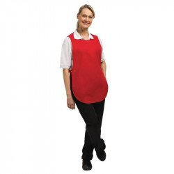 Tablier chasuble Rouge - Taille S WHITES CHEFS APPAREL Tabliers