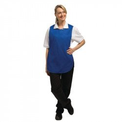 Tablier chasuble Bleu roi - Taille L WHITES CHEFS APPAREL Tabliers