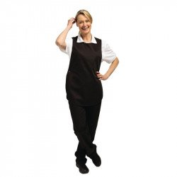 Tablier chasuble Noir - Taille S WHITES CHEFS APPAREL Tabliers