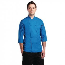 Veste manches 3/4 Chef Works bleue COLOUR BY CHEF WORKS Vestes et chemises