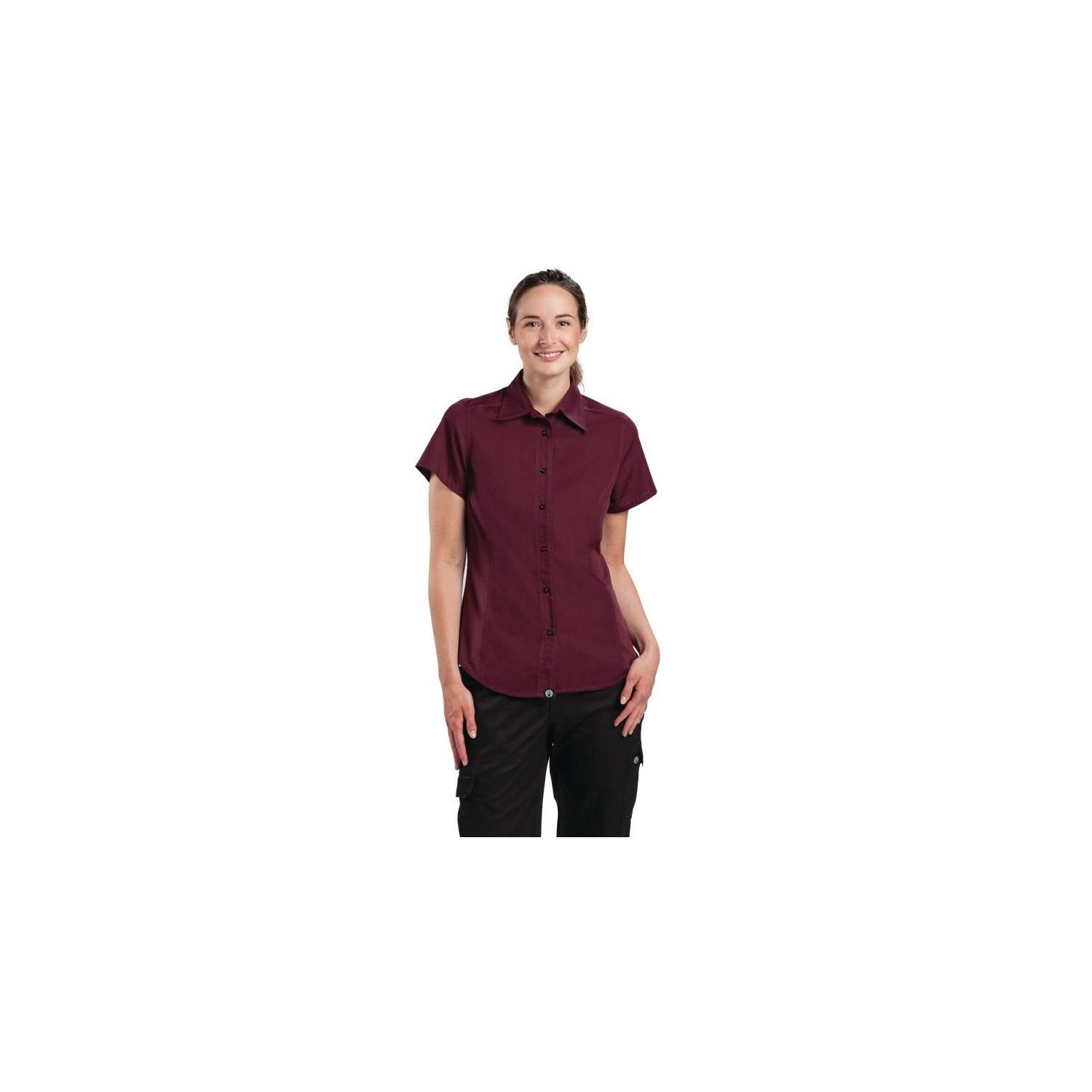 Chemise aubergine femme Cool Vent Chef Works - Taille L CHEF WORKS Nisbets Vêtements