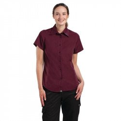 Chemise aubergine femme Cool Vent Chef Works - Taille M CHEF WORKS Nisbets Vêtements