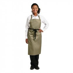 Whites Bib Apron Polycotton Olive WHITES CHEFS APPAREL Nisbets Vêtements