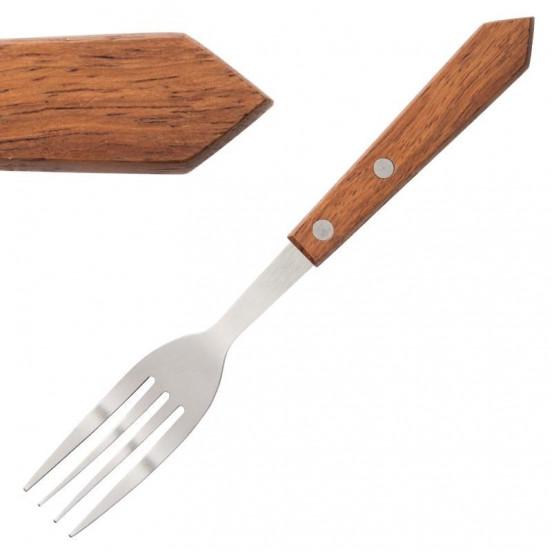 Lot de 12 fourchettes à steak 200mm inox  EQUIPEMENT DIRECT Attente Alex