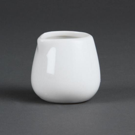 Lot de 12 pots 85 ml - à lait et crème - porcelaine OLYMPIA Attente Alex