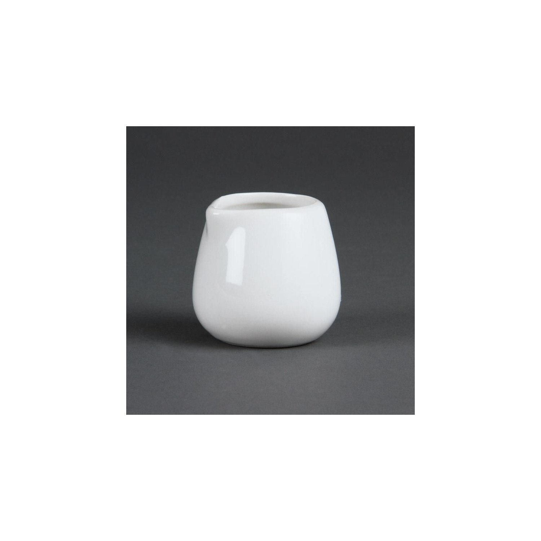 Lot de 12 pots 228 ml - à lait et crème - porcelaine OLYMPIA Attente Alex