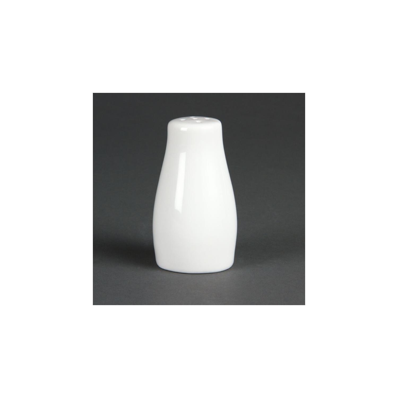 Lot de 12 poivrières blanches 90 mm - porcelaine OLYMPIA Attente Alex