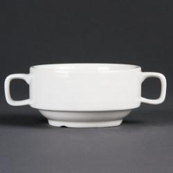 Bol à potage 2 anses porcelaine (6 pces) OLYMPIA Bols