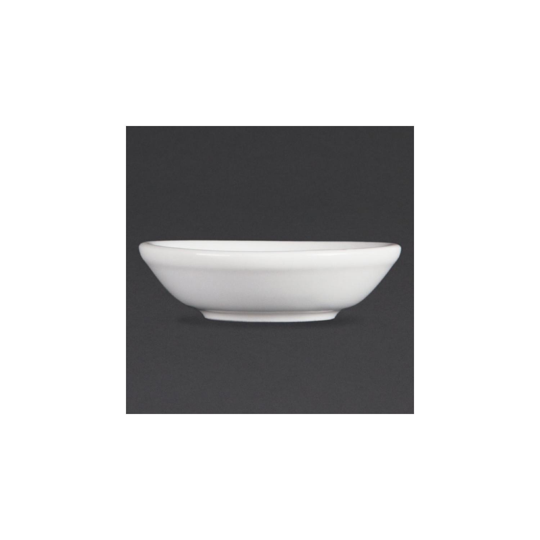 Lot de 12 coupelles à sauce soja Ø 70 mm - porcelaine OLYMPIA Collection Whiteware