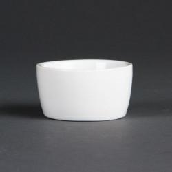 Lot de 12 pots à beurre Ø 62 mm - porcelaine  OLYMPIA Collection Whiteware