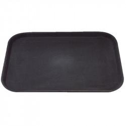 Plateau Kristallon rectangulaire noir plastique 356x457mm KRISTALLON Plateaux de service
