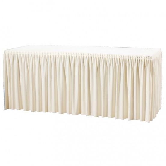 Habillage de table froncé écru - 1820x750x730 mm EQUIPEMENT DIRECT Nisbets Vêtements