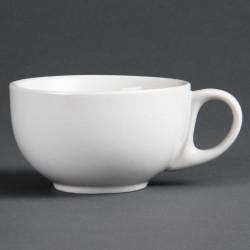 Lot de 12 tasses 284 ml - à cappuccino - porcelaine OLYMPIA Collection Whiteware