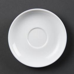 Lot de 12 soucoupes pour tasses à expresso - porcelaine OLYMPIA Collection Whiteware