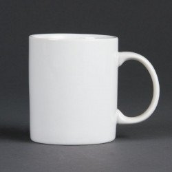 Lot de 12 mugs 284 ml - porcelaine OLYMPIA Collection Whiteware