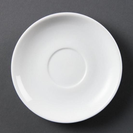 Lot de 12 soucoupes empilables - pour CB467 - porcelaine OLYMPIA Collection Whiteware
