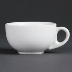 Lot de 12 tasses 200 ml - à cappuccino - porcelaine OLYMPIA Collection Whiteware