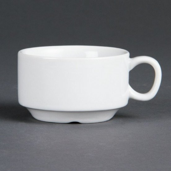 Lot de 12 tasses à espresso Ø 70 mm - empilable - porcelaine OLYMPIA Collection Whiteware