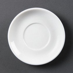 Lot de 12 soucoupes pour tasses à espresso Ø 85mm - empilable - porcelaine OLYMPIA Collection Whiteware