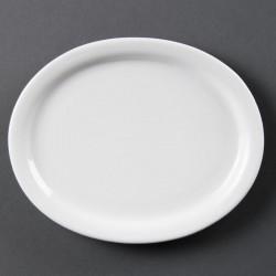 Lot de 6 assiettes L 204 x P 164 mm - carrées / arrondies - porcelaine OLYMPIA Collection Whiteware