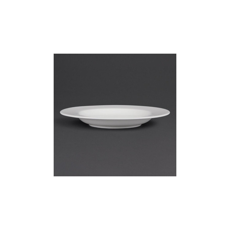 Lot de 4 assiettes à pâtes Ø 310 mm - porcelaine OLYMPIA Collection Whiteware