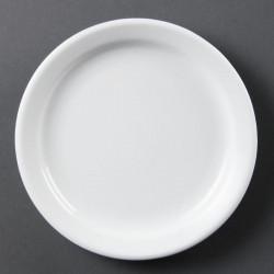 Lot de 12 assiettes Ø 180 mm - à bord étroit - porcelaine OLYMPIA Collection Whiteware