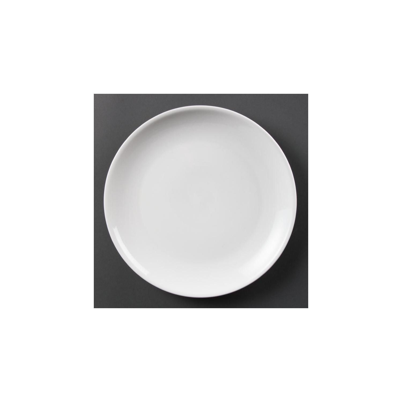 Lot de 6 assiettes Ø 280 mm - plates / rondes - porcelaine OLYMPIA Collection Whiteware