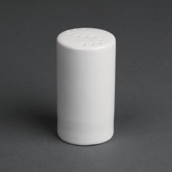 Lot de 12 salières blanches 80 mm - porcelaine OLYMPIA Attente Alex