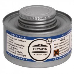 Olympia Chafing combustible liquide 4 heures (colis de 12) HAZ OLYMPIA Chafing Dish