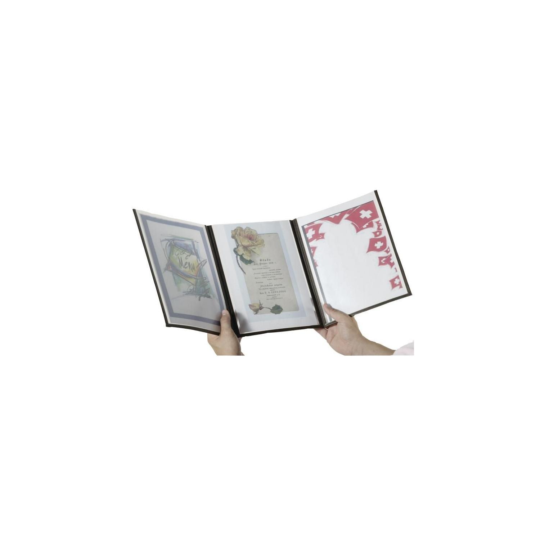 Porte-menu transparent cristal A4 triple (6 pages) (par 3) SECURIT Cartes et menus