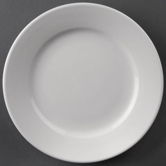 Lot de 12 assiettes Ø 202 mm - à bord large - porcelaine - Hotelware ATHENA HOTELWARE Attente Alex
