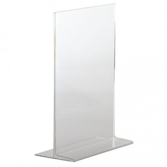 Porte Menus A4 Acrylique Vertical (Portrait) EQUIPEMENT DIRECT Cartes et menus