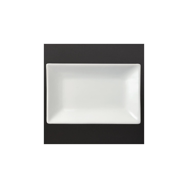 Lot de 6 plats 200 x 130 mm rectangulaire - de service - porcelaine OLYMPIA Attente Alex