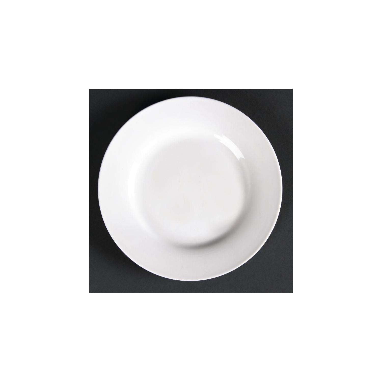 Lot de 6 assiettes rondes à bord large Lumina LUMINA FINE CHINA Collection Lumina