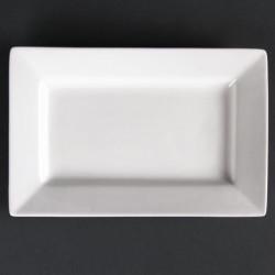 Lot de 6 assiettes rectangulaires à bord large Lumina 200(L)x130(l)mm LUMINA FINE CHINA Collection Lumina