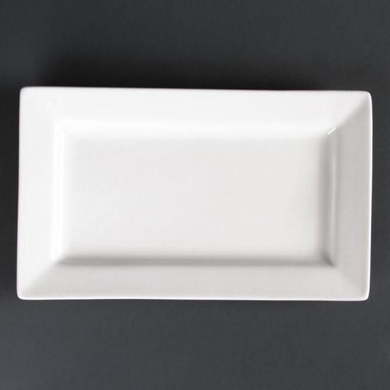 Lot de 4 assiettes rectangulaires à bord large Lumina 257(L)x155(l)mm LUMINA FINE CHINA Collection Lumina